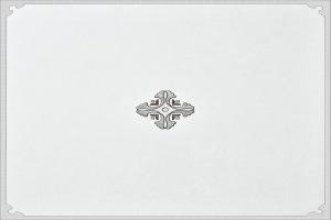 欧式简略风格中心花纹铝扣板