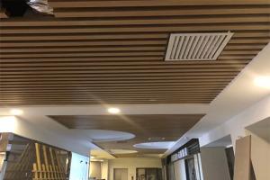 凹槽型材铝方管天花安装节点