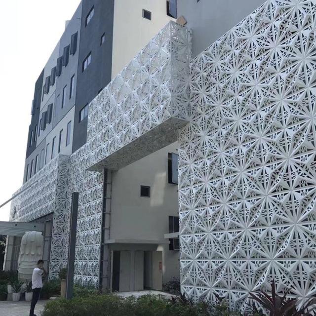 凹凸雕刻镂空造型铝单板
