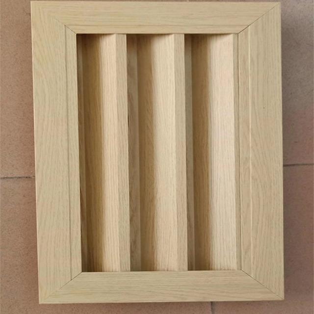 木纹色铝排风口