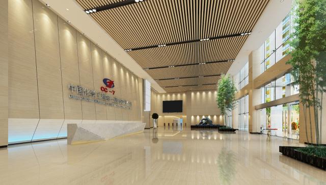 中国化学工程第七分公司大厅吊顶铝方通