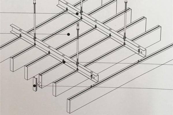 型材铝方通安装细节