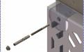 将铝板用膨胀螺栓锁定在墙体上