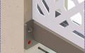 把铝窗花放在金属外框上,金属外框锁在墙体上