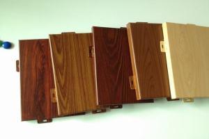 各种颜色仿木纹铝单板