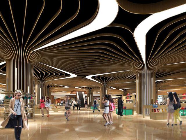 木纹的盛宴铝方通的魔力--酒店专用造型树木纹铝方通