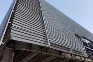 长城造型铝板六角形冲孔