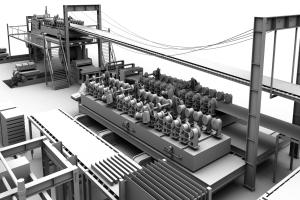 铝条扣连续辊压成型