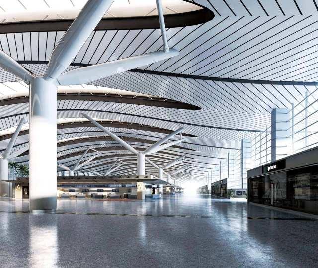 广州白云机场室内吊顶大全