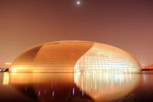 国家歌剧院圆球型双曲铝单板穹顶