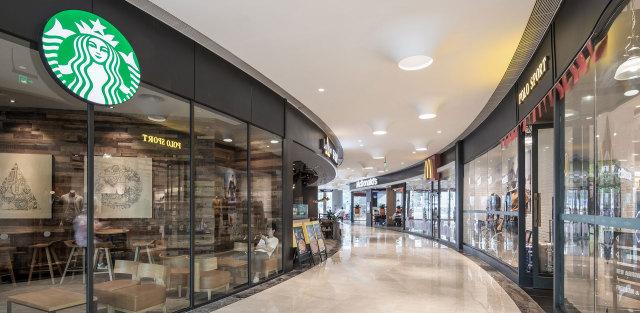 深圳绿景虹湾购物中心室内墙门铝单板
