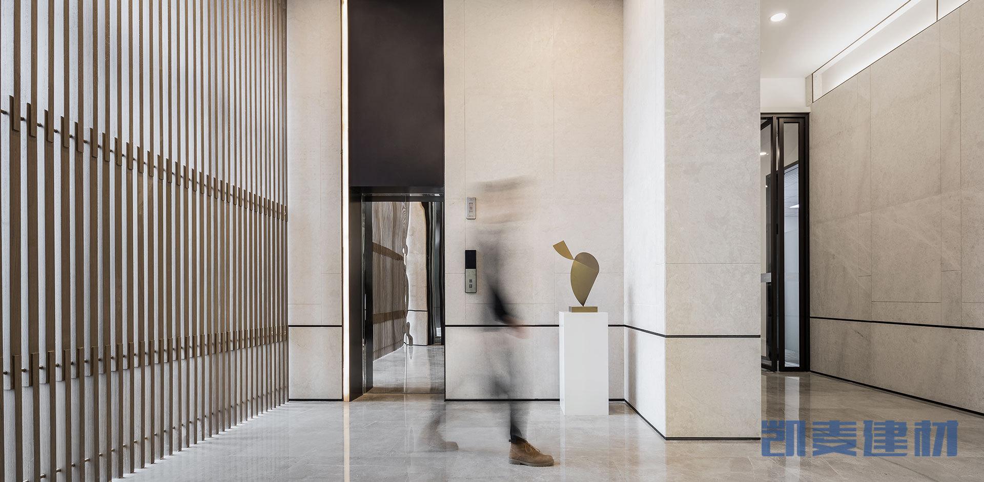 木纹色墙面凹凸铝单板
