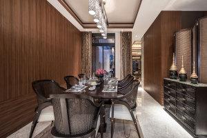私人宴会厅墙面木纹铝单板