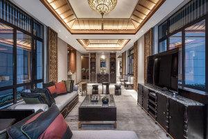 VIP贵宾室木纹铝屏风