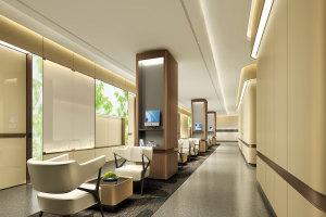 木纹包柱铝单板和白色墙面铝单板