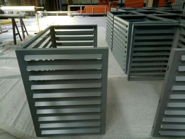 灰色氟碳铝空调罩