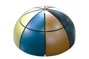 球形双曲留缝安装铝单板