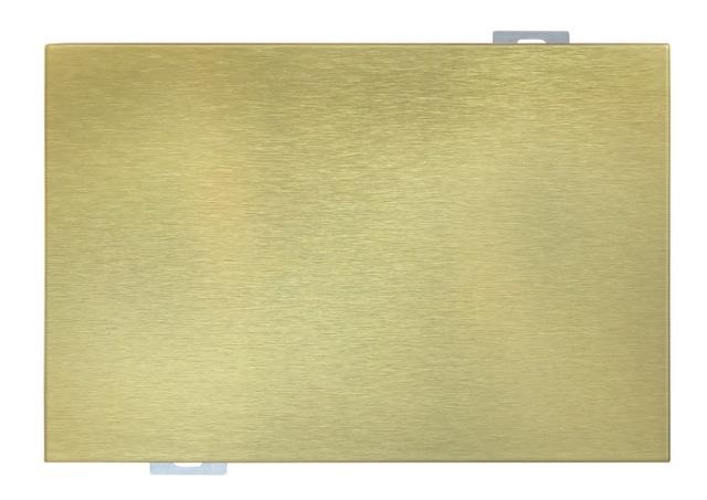 金色拉丝氧化铝单板