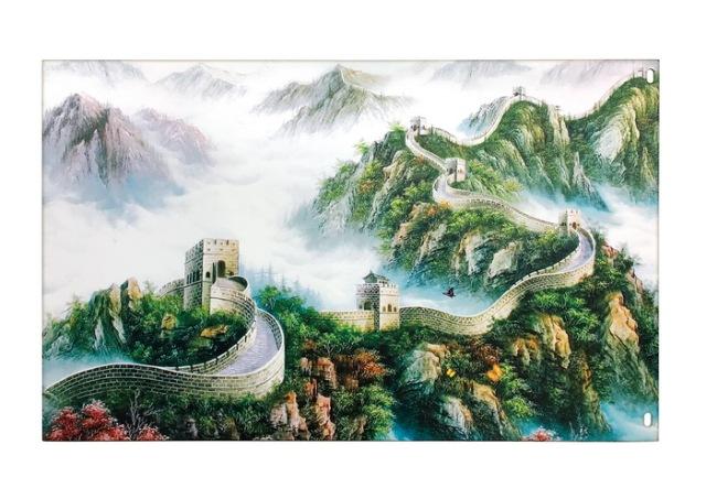 长城图案喷绘铝单板