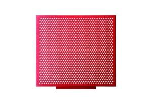 红色冲孔铝单板