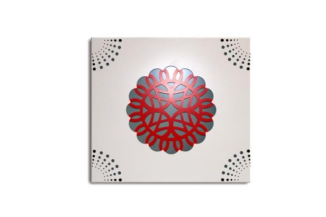 双色冲孔雕刻铝单板