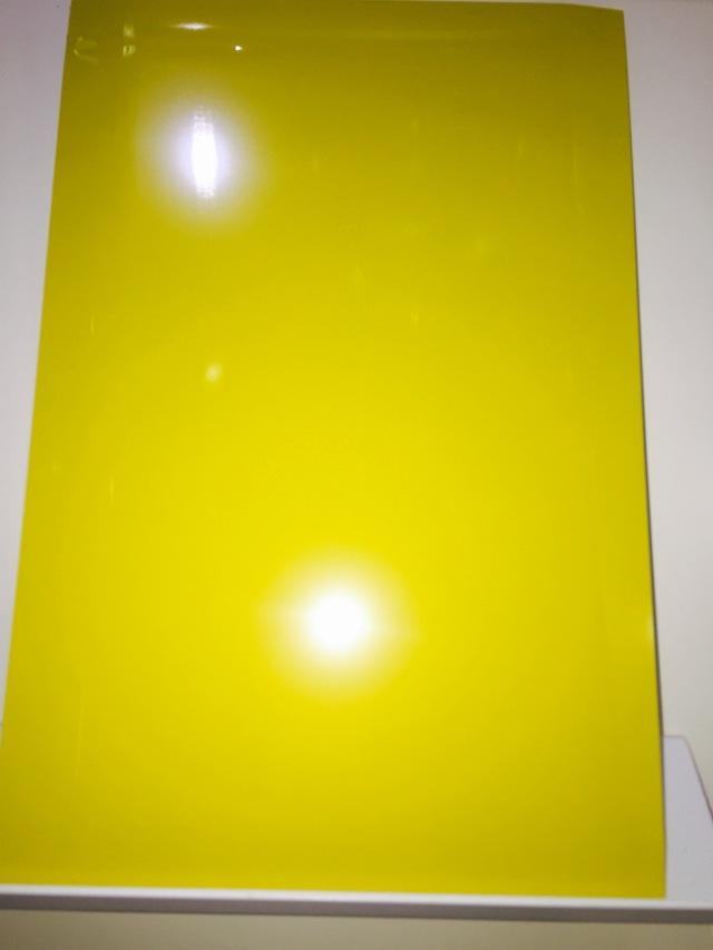 黄色高光烤瓷铝单板