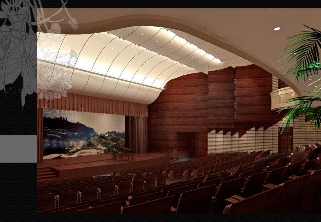 歌剧院墙面木纹铝单板