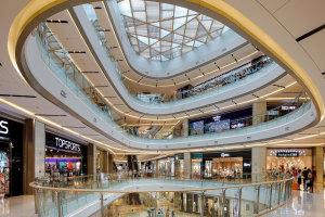 商场天井铝格栅和包墙铝单板