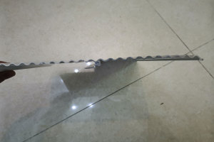 波浪造型铝型材拼装横截面