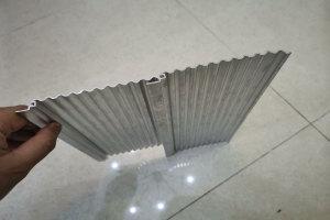 波浪造型铝型材背面