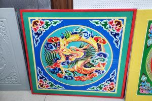 中国龙图案印花铝扣板