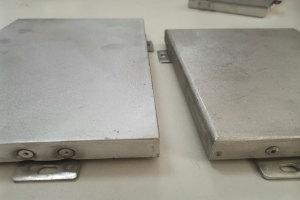 铝单板刨槽与常规折边对照