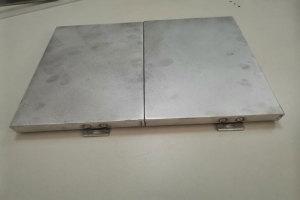 铝单板刨槽后密拼拼装效果