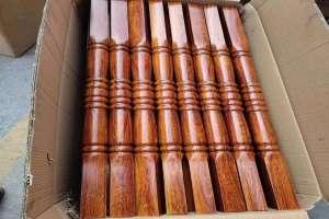 红木纹铝型材瘪管扶手