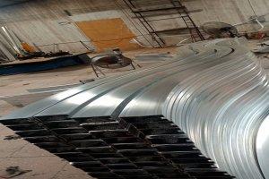凹槽吊顶铝方通型材拉弯S形