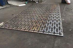双层铝方管焊接组合中式铝窗花
