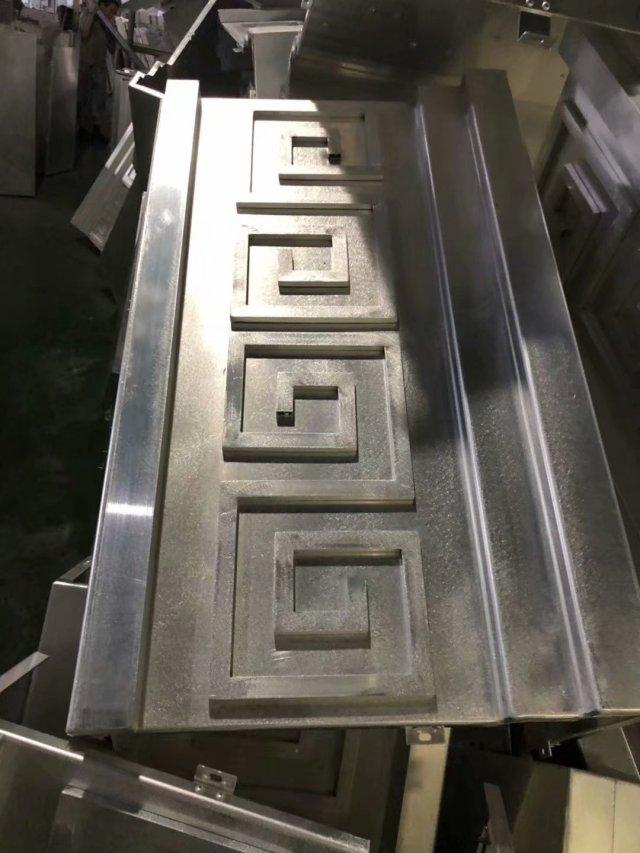 铝方管和铝单板组合凹凸造型板