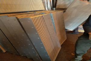 盒子形拉网钢板
