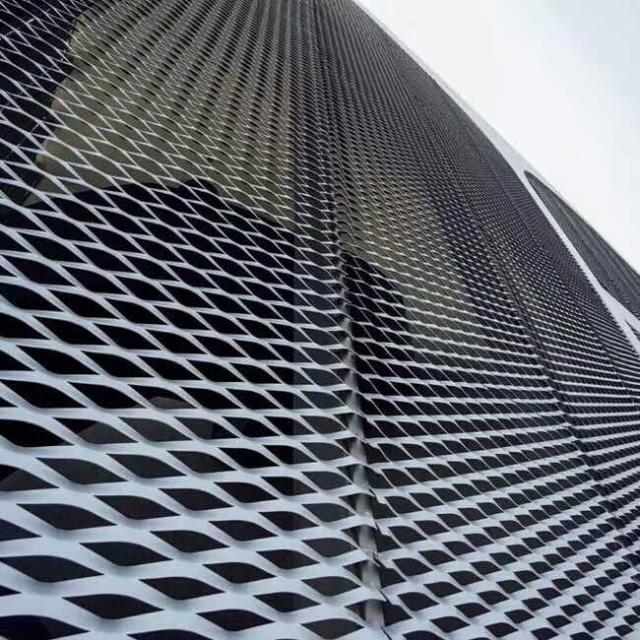 菱形孔铝拉网板