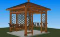 中式木纹转印铝合金凉亭