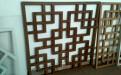 木紋色中國結花式鋁窗花