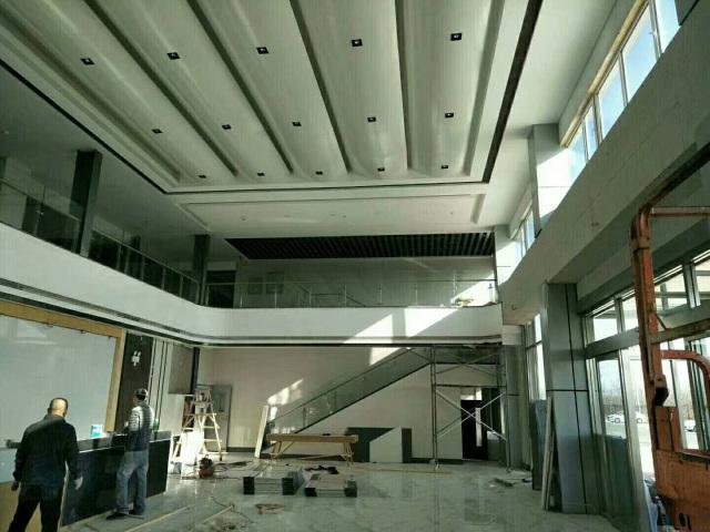 进门大厅拱形铝单板吊顶