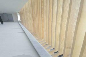 阳台立式木纹铝合金格栅