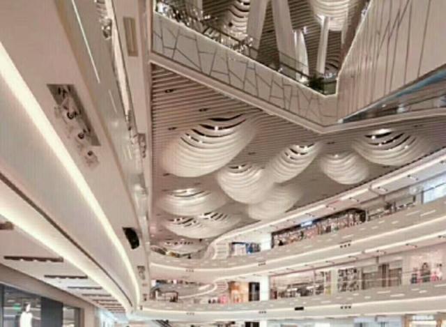 商场凸出拱形铝方通