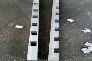 铝方管开孔和切半