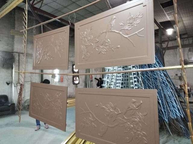 中式浮雕鸟语花香图案铝厚板
