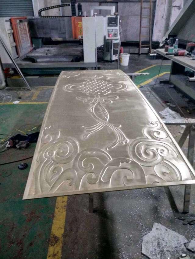中国结图案浮雕超厚铝单板