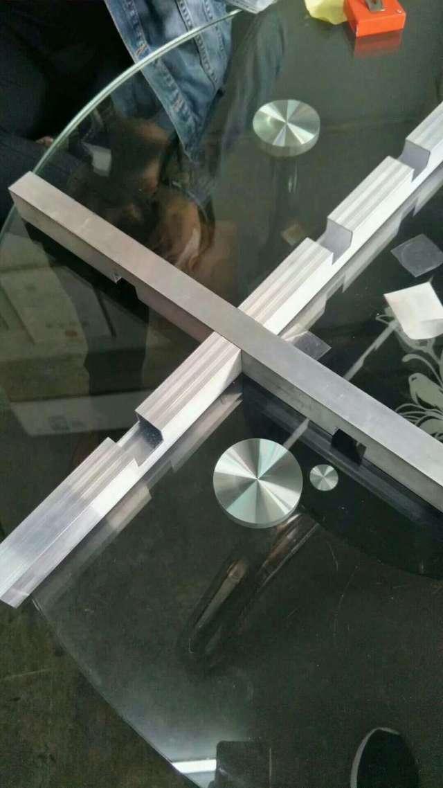 半开铝型材交叉卯榫组合成方管铝格栅