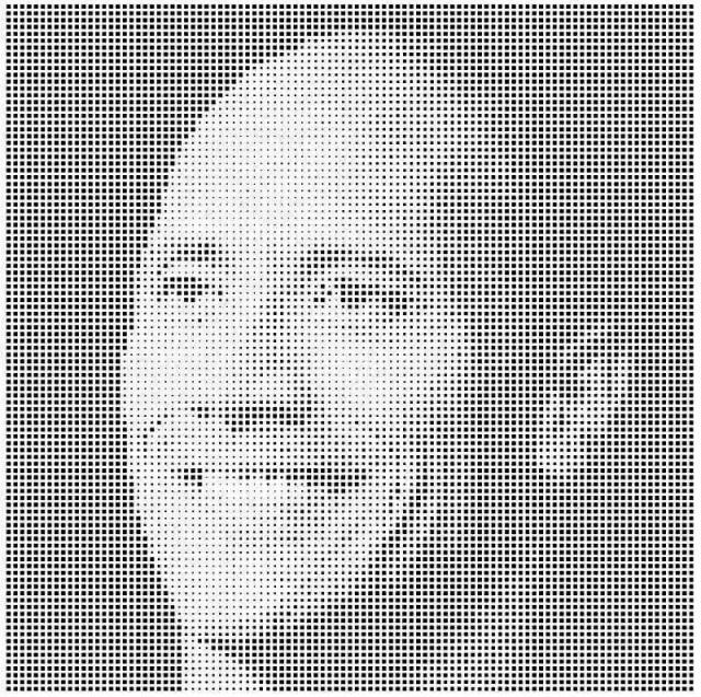 铝单板冲渐变方形孔组合拼道恩·强森头像