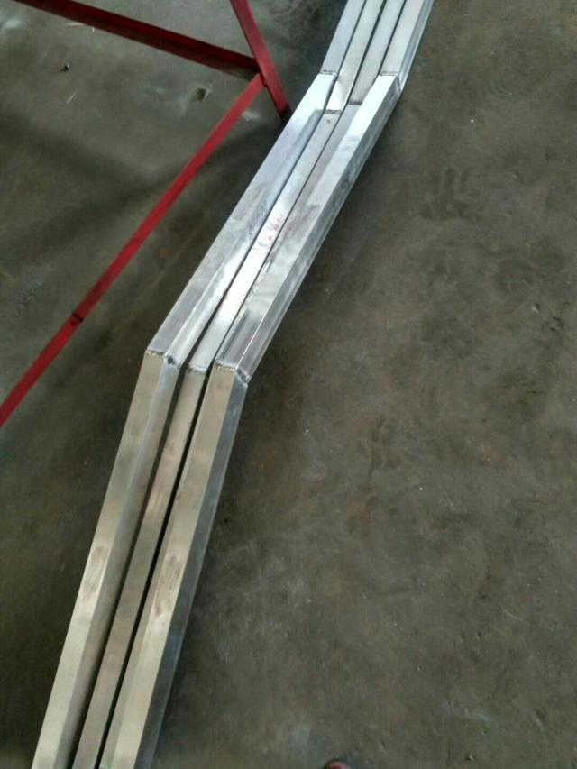 铝方管折曲形焊接加工